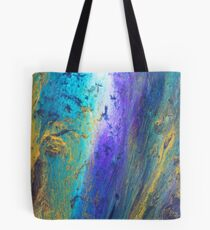 peacock coloured flow abstract Tote Bag