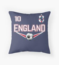 England Football Soccer Design with national Shield Throw Pillow