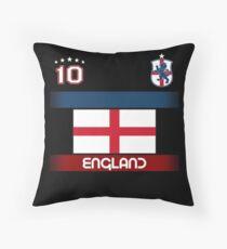 England Football Soccer Design with National Flag Throw Pillow