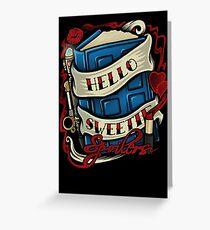 Hello Sweetie (sticker) Greeting Card