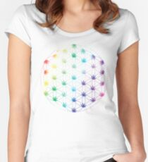 Flowers of Life Women's Fitted Scoop T-Shirt