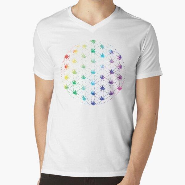 Flowers of Life V-Neck T-Shirt