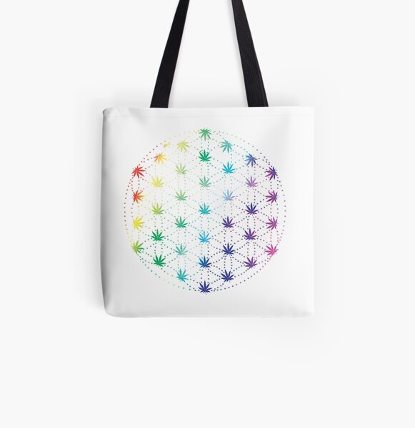 Flowers of Life All Over Print Tote Bag