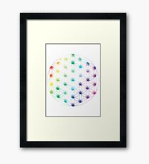 Flowers of Life Framed Print