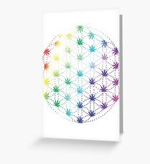 Flowers of Life Greeting Card