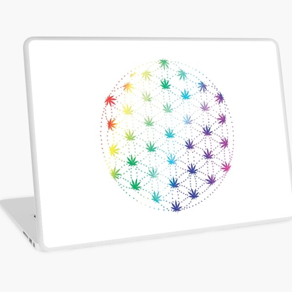 Flowers of Life Laptop Skin