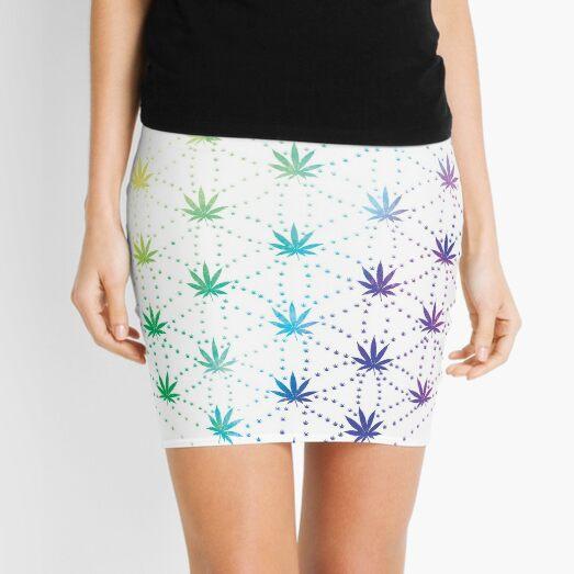 Flowers of Life Mini Skirt
