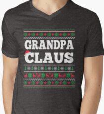 Grandpa Claus Matching Family Christmas Ugly Sweater  T-Shirt