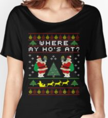 birdy Christmas design, X-Mass singing, merry christmas santa  Women's Relaxed Fit T-Shirt
