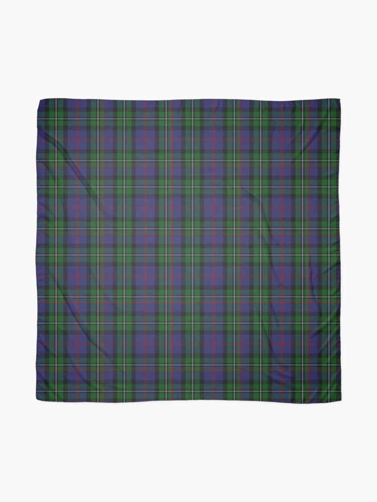 Alternate view of McPhail Hunting Tartan with Clan Name Scarf