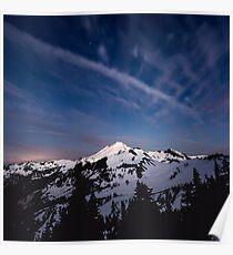 Mount Baker by Starlight Poster