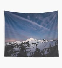 Mount Baker by Starlight Wall Tapestry