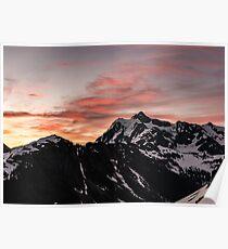 Mount Shuksan Pink Sunrise Poster