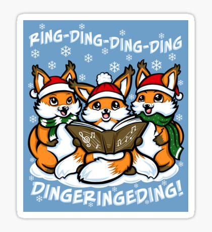 """What does the Fox Sing""  (sticker) Sticker"