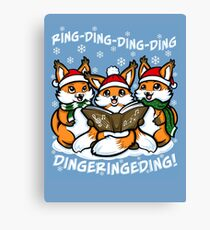 """""""What does the Fox Sing""""  (sticker) Canvas Print"""