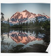 Mount Shuksan Beautiful Evening Poster