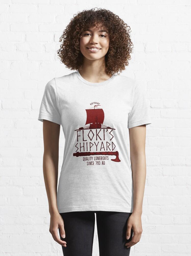 Alternate view of Floki's Shipyard Essential T-Shirt