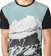 Mount Baker Baby Blue - Pastel Mornings Graphic T-Shirt