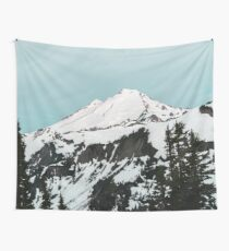 Mount Baker Baby Blue - Pastel Mornings Wall Tapestry