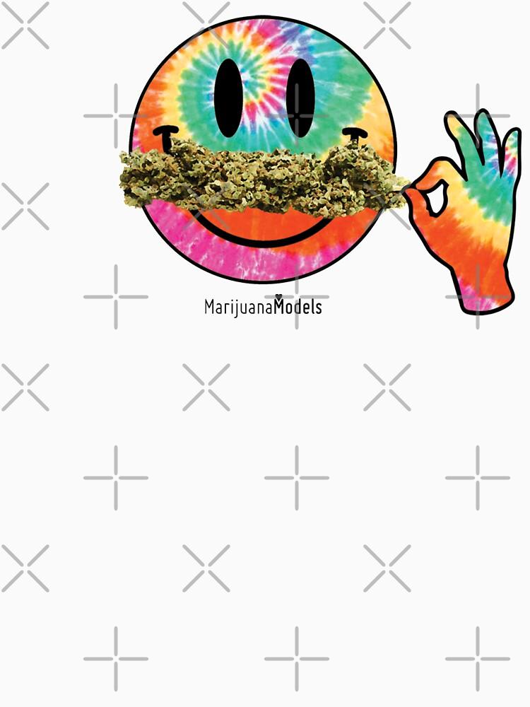 Smiley Weedstache by kushcommon