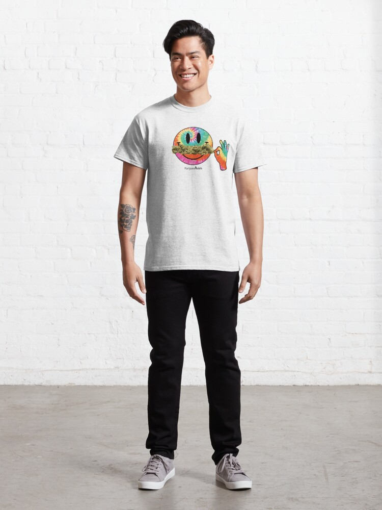 Alternate view of Smiley Weedstache Classic T-Shirt