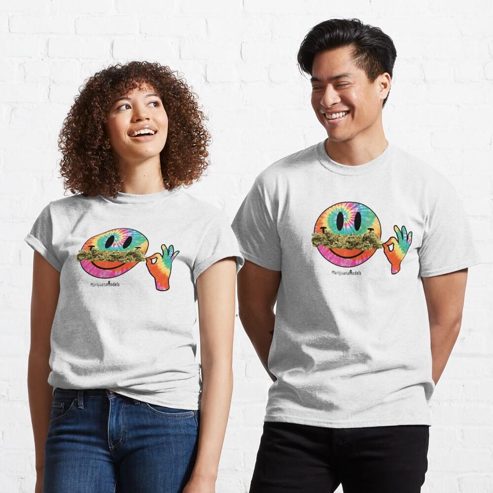 Smiley Weedstache Classic T-Shirt