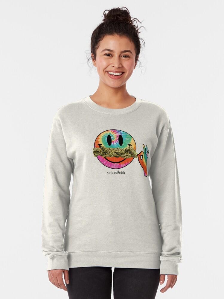 Alternate view of Smiley Weedstache Pullover Sweatshirt