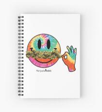 Smiley Weedstache Spiral Notebook
