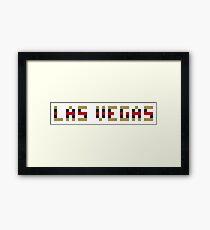 Pixel NHL Hockey City Las Vegas 2017 on White Framed Print