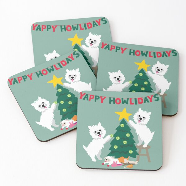 I'm dreaming of a Westie Christmas Coasters (Set of 4)