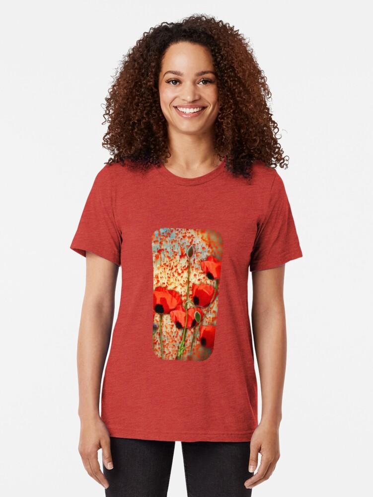 Alternate view of Flanders fields  Tri-blend T-Shirt
