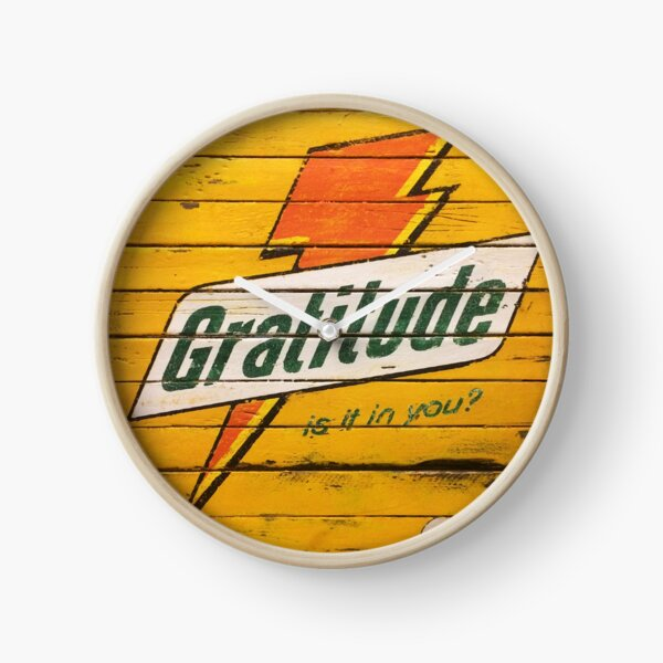 Gratitude Yellow Positive Pop Clock