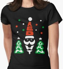 Red, Green and White! Women's Fitted T-Shirt