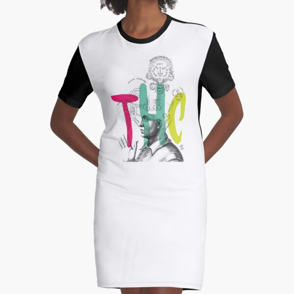 THC Minds Graphic T-Shirt Dress