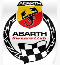 Abarth good quality Poster