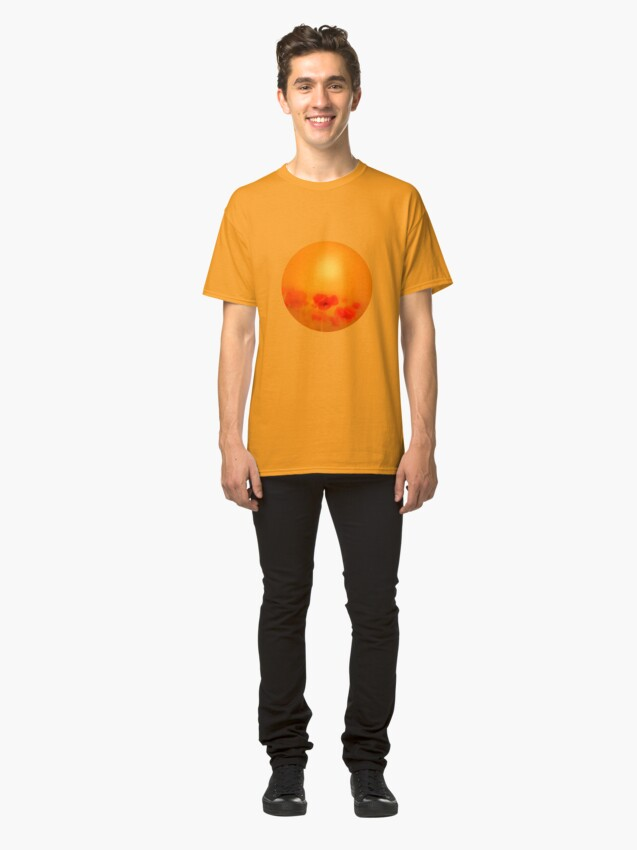 Alternate view of Poppies in gold  Classic T-Shirt