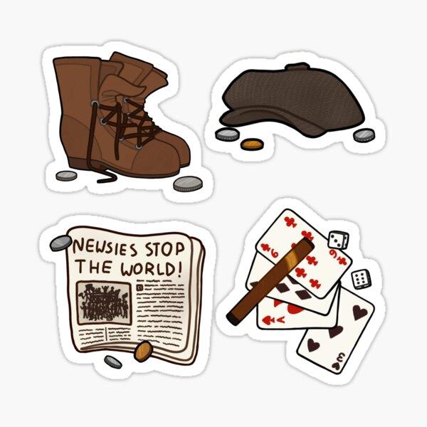 newsies stickers Sticker