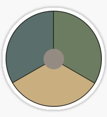 Roundel of the Royal Netherlands Air Force (low visibility) Sticker