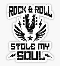 Rock & roll stole my soul - heavy metal Sticker