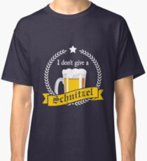'I Don't Give a Schnitzel' Cool Beer  Party Lovers  Classic T-Shirt