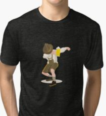 'Lederhosen Dabbing' Cool Beer Lederhosen Lovers  Tri-blend T-Shirt