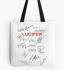 Lucifer Script Tote Bag