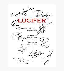 Lucifer Script Photographic Print