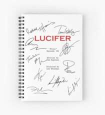Lucifer Script Spiral Notebook