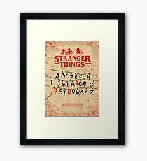 Stranger Things - Minimal TV-Show Fanart alternative Framed Print