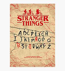 Stranger Things - Minimal TV show fanart alternative Photographic Print