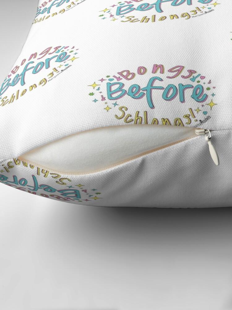 Alternate view of Bongs Before Schlongs Floor Pillow