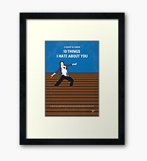 No850 My 10 Things I Hate About You minimal movie poster Framed Print