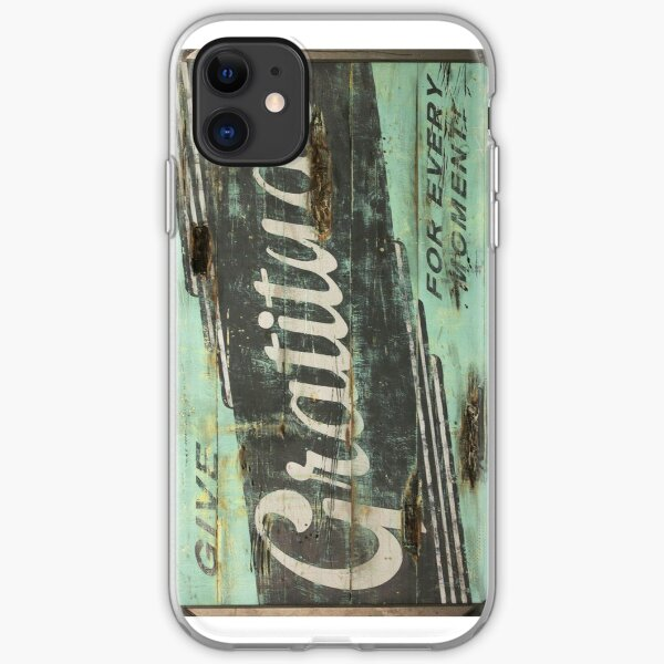 Gratitude Teal Positive Pop iPhone Soft Case