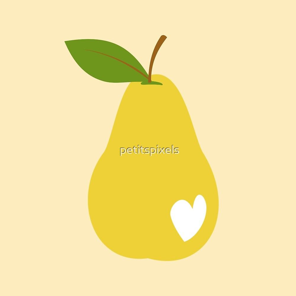Bitten pears by petitspixels